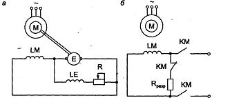 Типовые узлы схем возбуждения синхронного двигателя