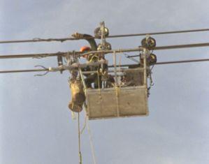 Ремонт проводов на воздушной линии