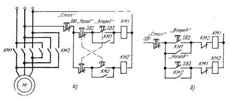 электрическая схема включения электродвигателя
