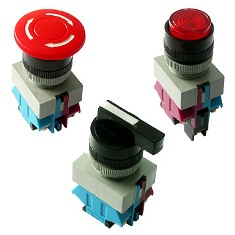 Аппараты для коммутации цепей управления: кнопки, выключатели и переключатели
