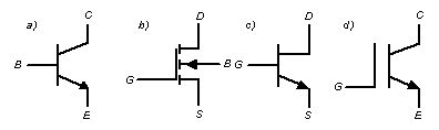 Условно-графические обозначения транзисторов