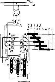 Схема включения маслонаполненного регулировочного реостата