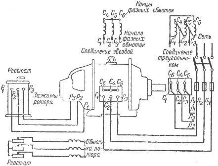 Схема соединения обмоток и
