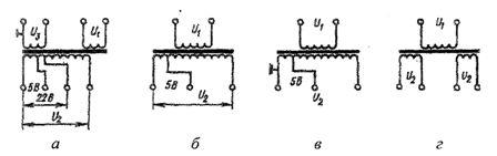 Схемы соединения обмоток трансформаторов серии ОСМ
