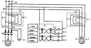 Принципиальная электрическая схема талей грузоподъемностью 5.0 т Харьковского завода ПТО