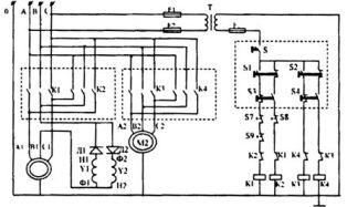 Принципиальная электрическая схема тали грузоподъемностью 5,0 т Слуцкого завода ПТО