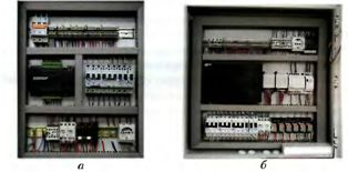 Общий вид щитов управления системой вентиляции и кондиционирования воздуха