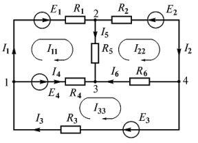 Расчет разветвленной электрической цепи с помощью законов Кирхгофа