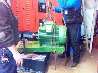 Разборка и сборка электродвигателей при ремонте