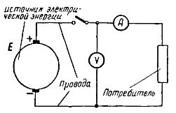 схема электрической цепи состоящая из