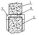 Проход кабеля сквозь стену 1 - стена; 2 - пластиковый короб; 3 – отвод; 4 - закладная труба