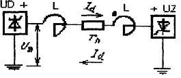 Схема передачи постоянного тока в послеаварийном режиме