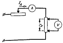 Правильная схема соединения для измерения малых сопротивлений амперметром и вольтметром