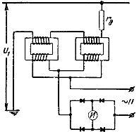 Схема измерительного трансформатора постоянного напряжения