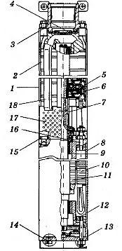 Электронасосный центробежный скважинный агрегат для воды