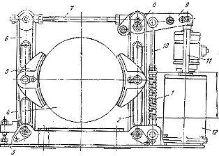 Тормоз для крана с электрогидравлическим толкателем