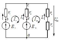 Схема сложной электрической цепи