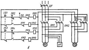 Схема электрическая принципиальная кран-балки