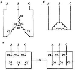 Схема соединения двигателя звездой фото 281