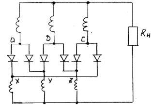 Кольцевая трехфазная схема выпрямления