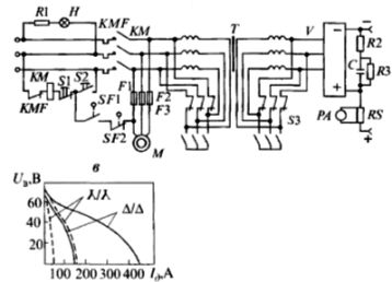 Электрическая принципиальная схема сварочного выпрямителя ВД-306
