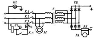 Электрическая принципиальная схема сварочного выпрямителя ВД-313