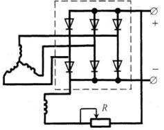 Схема вентильного генератора с самовозбуждением