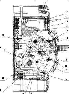 Автоматический выключатель, серия ВА 04-36 (устройство выключателя)