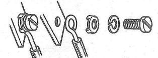 Подсоединение провода к наборному винтовому зажиму