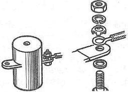 Подсоединение провода к выводу катушки