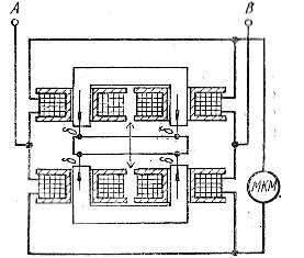 Схема устройства дифференциального индуктивного преобразователя