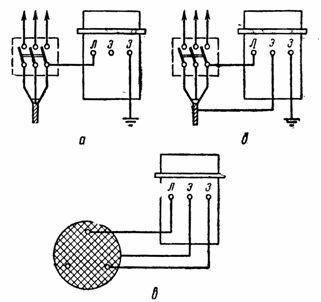 Схемы испытания изоляции повышенным напряжением мегомметром МС-0,5