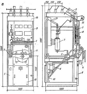 ...одностороннего обслуживания типа КСО (рис. 1); исполнения КСО-2УМ: КСО-266 и КСО-366, имеющие различные схемы...