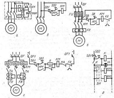 Схемы управления и защиты двигателей