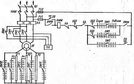 Схема электропривода подъема с