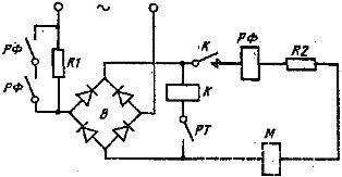 Схема питания электромагнитов постоянного тока с форсировкой