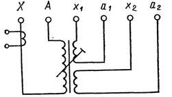 Схема обмоток дугогасящего реактора типа РЗДПОМ (КДРМ)