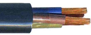Кабель с резиновой изоляцией КГ (изоляция из резины на основе натурального и бутадиенового каучуков)