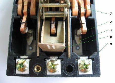 Главная контактная группа автоматического выключателя