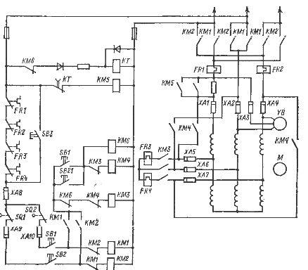 Схема пуска короткозамкнутого электродвигателя 993