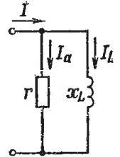 Параллельное соединение участков цепи с активным и индуктивным сопротивлением