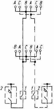Пример схемы питания огней светового ограждения на дымовой трубе