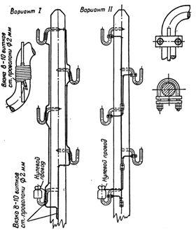 Заземление крюков ВЛ 0,4 кВ
