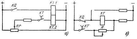 Схемы дистанционной регулировки выдержки реле времени