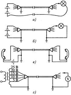 Схемы прозвонки кабелей