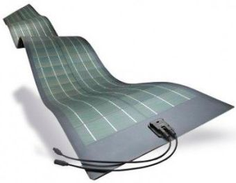 Мобильная солнечная батарея, изготовленная на аморфных фотомодулях