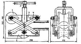 Приспособление для ввода кабеля напряжением до 10 кВ в трубы