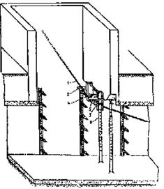 Установка обводного блока для перехода каната из тоннеля и вентиляционную шахту