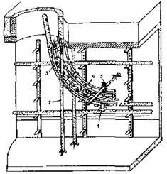 Установка обводного универсального устройства на спуске кабеля из колодца