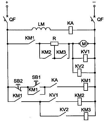 Схема пуска ДПТ параллельного